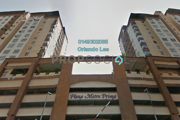 For Rent Apartment at Plaza Metro Prima, Kepong Freehold Unfurnished 3R/2B 1.2k
