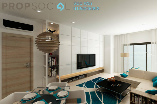 For Sale Condominium at Green Residence, Cheras South Freehold Semi Furnished 3R/4B 732k