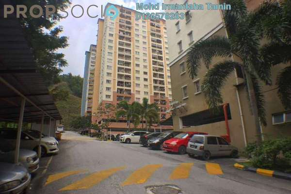 For Sale Apartment at Lakeview Apartment, Batu Caves Freehold Semi Furnished 3R/2B 265k