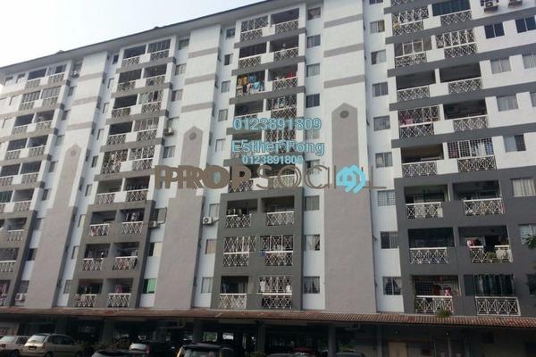 For Rent Apartment at Sri Jinjang Apartment, Jinjang Freehold Semi Furnished 3R/2B 1.1k