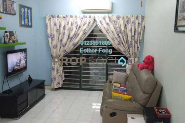 For Rent Apartment at SD Apartments, Bandar Sri Damansara Freehold Fully Furnished 3R/2B 1.2k
