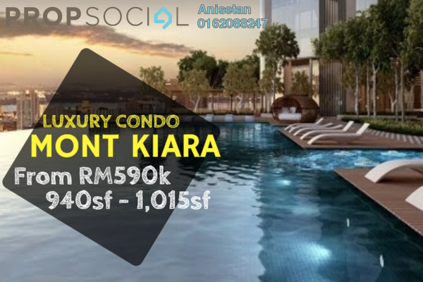 For Sale Condominium at Kiara 1888, Mont Kiara Leasehold Semi Furnished 2R/2B 590k