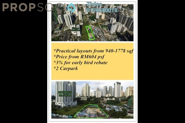 For Sale Condominium at Mont Kiara Aman, Mont Kiara Freehold Unfurnished 3R/2B 600k