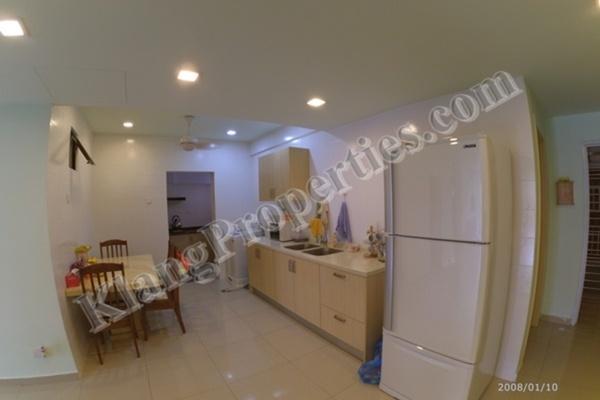 For Sale Apartment at Taman Bayu Perdana, Klang Freehold Fully Furnished 3R/2B 340k