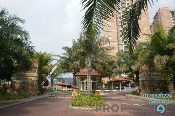 For Rent Condominium at Greenview Residence, Bandar Sungai Long Freehold Fully Furnished 3R/2B 1.5k