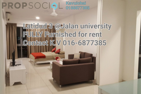 For Rent Condominium at Latitud 3, Petaling Jaya Freehold Fully Furnished 1R/2B 2.1k