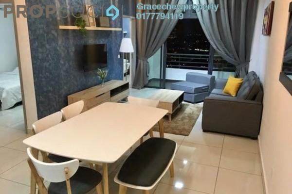 For Rent Apartment at 1Tebrau, Johor Bahru Freehold Fully Furnished 3R/2B 2.3k