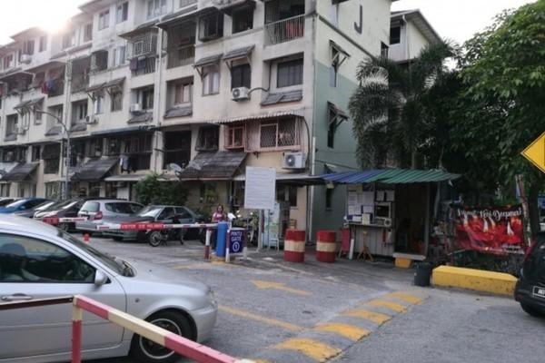 For Rent Apartment at Dahlia Apartment, Setapak Freehold Semi Furnished 2R/2B 1.05k