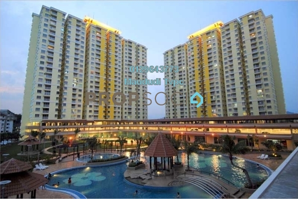 For Rent Condominium at Platinum Lake PV10, Setapak Freehold Semi Furnished 4R/2B 1.6k
