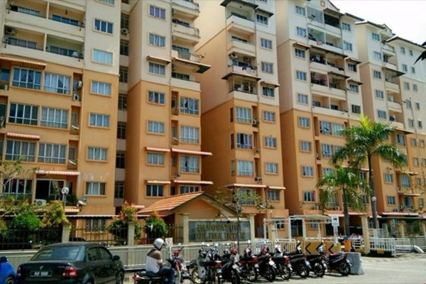 For Sale Apartment at Delima Intan Apartment, Juru Freehold Semi Furnished 3R/2B 200k