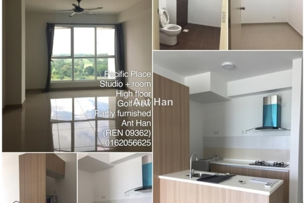 For Rent SoHo/Studio at Pacific Place, Ara Damansara Leasehold Semi Furnished 0R/1B 1.4k