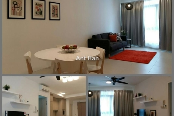 For Rent Serviced Residence at AraGreens Residences, Ara Damansara Freehold Semi Furnished 2R/1B 2k