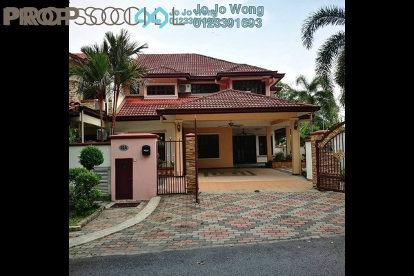 For Sale Terrace at Section U8, Bukit Jelutong Freehold Semi Furnished 4R/4B 1.35m