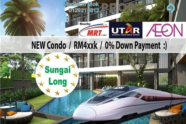 For Sale Condominium at Iris Residence, Bandar Sungai Long Freehold Unfurnished 4R/3B 520k