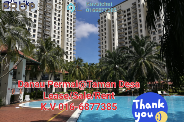 For Rent Condominium at Danau Permai, Taman Desa Freehold Fully Furnished 1R/1B 1.6k