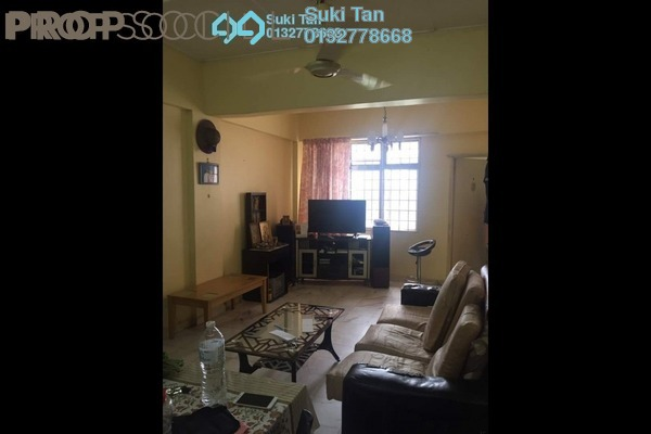 For Sale Apartment at Greenview Apartment, Kepong Freehold Semi Furnished 3R/2B 198k