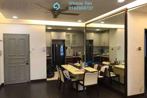 For Rent Apartment at D'Rimba, Kota Damansara Freehold Fully Furnished 3R/2B 1.7k