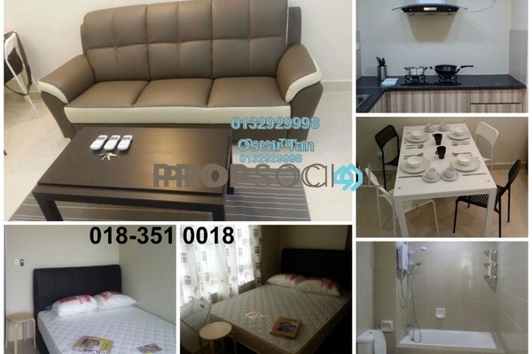 For Rent Condominium at Rivercity, Sentul Freehold Fully Furnished 1R/1B 1.2k
