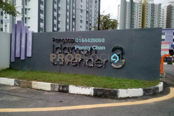For Sale Apartment at Idaman Lavender 3, Sungai Ara Freehold Unfurnished 3R/2B 295k