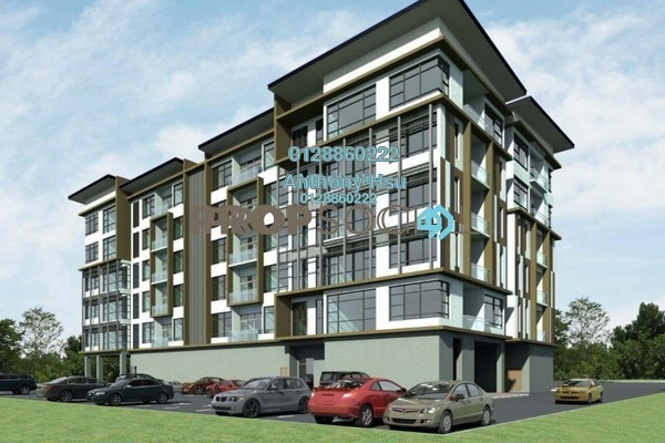 For Sale Apartment at Forest Hill, Kuching Leasehold Semi Furnished 2R/2B 323k