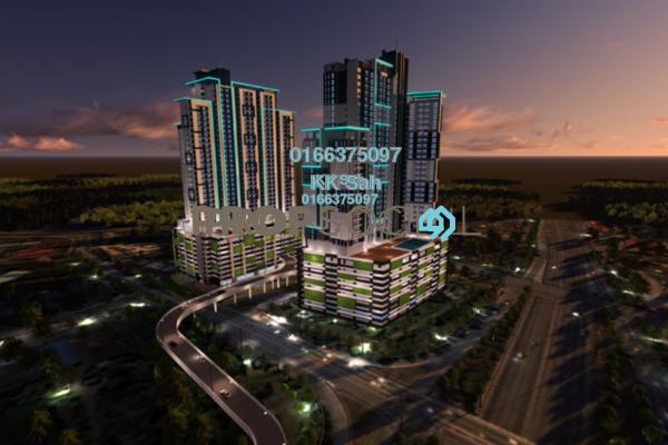 For Sale Condominium at Damai Vista, Cheras South Freehold Unfurnished 3R/2B 528k
