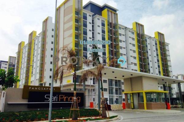 For Sale Apartment at Seri Pinang Apartment, Setia Alam Freehold Unfurnished 3R/2B 315k