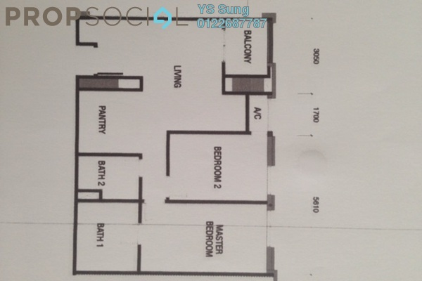 For Rent Serviced Residence at Arcoris, Mont Kiara Freehold Semi Furnished 2R/2B 3.9k
