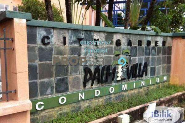 For Sale Condominium at City Garden Palm Villa, Pandan Indah Freehold Semi Furnished 3R/2B 445k