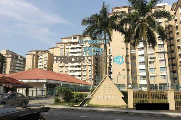 For Rent Condominium at Sri Desa, Kuchai Lama Freehold Semi Furnished 3R/2B 1.6k