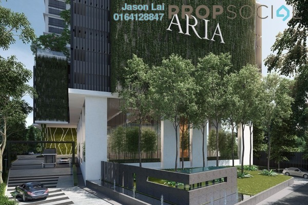 For Sale Serviced Residence at Aria, KLCC Freehold Semi Furnished 1R/1B 1.1m