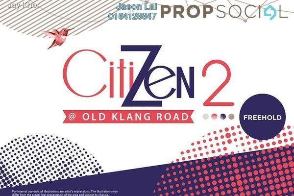 For Sale Condominium at CitiZen 2, Old Klang Road Freehold Semi Furnished 3R/2B 420k