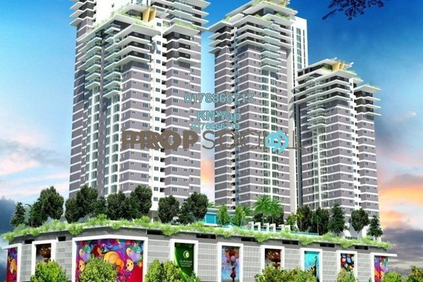 For Sale Serviced Residence at Maxim Residences, Cheras Leasehold Unfurnished 1R/1B 350k