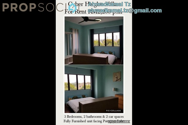 For Rent Condominium at Cyber Heights Villa, Cyberjaya Freehold Fully Furnished 3R/2B 2.2k