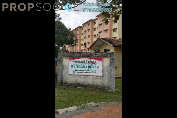 For Sale Apartment at Section 7, Shah Alam Freehold Semi Furnished 3R/1B 220k