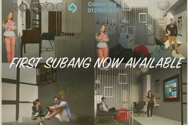 For Rent SoHo/Studio at First Subang, Subang Jaya Freehold Fully Furnished 1R/1B 2.5k