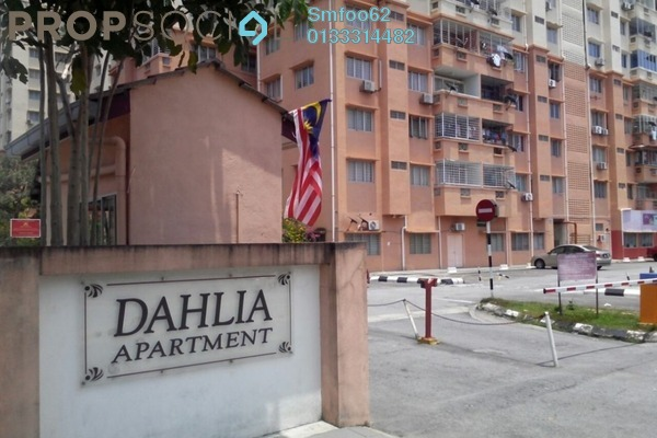 For Rent Condominium at Dahlia Apartment, Setapak Freehold Semi Furnished 3R/2B 1.2k