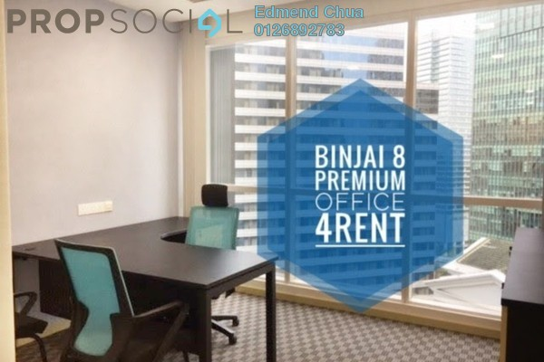 For Rent Office at Binjai 8, KLCC Freehold Fully Furnished 0R/0B 6.5k
