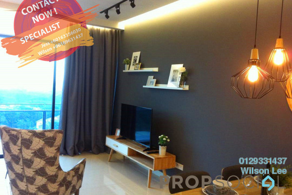 For Rent Condominium at One Central Park, Desa ParkCity Freehold Fully Furnished 3R/2B 4.7k