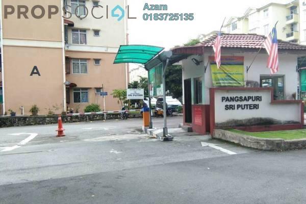For Sale Apartment at Sri Puteri Apartment, Ukay Freehold Semi Furnished 3R/2B 289k