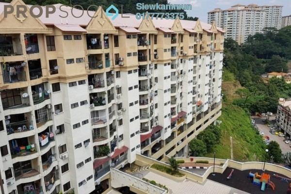 For Rent Apartment at Ixora Apartment, Kepong Freehold Unfurnished 3R/2B 800translationmissing:en.pricing.unit