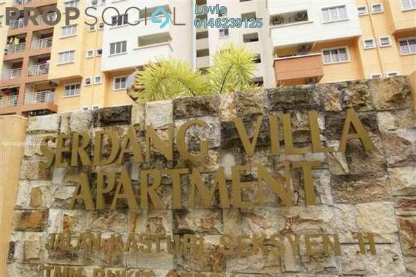 For Rent Condominium at Serdang Villa Apartment, Seri Kembangan Freehold Fully Furnished 3R/2B 1k