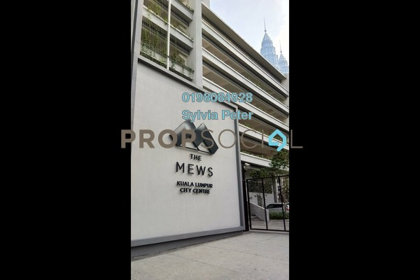 For Rent Condominium at The Mews, KLCC Freehold Semi Furnished 2R/2B 7k