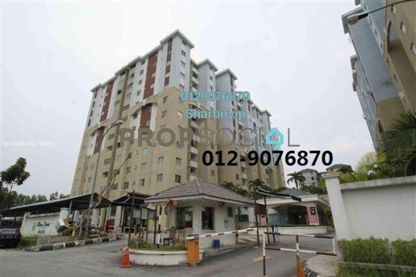 For Rent Apartment at Bandar Damai Perdana, Cheras South Freehold Semi Furnished 3R/2B 1.2k