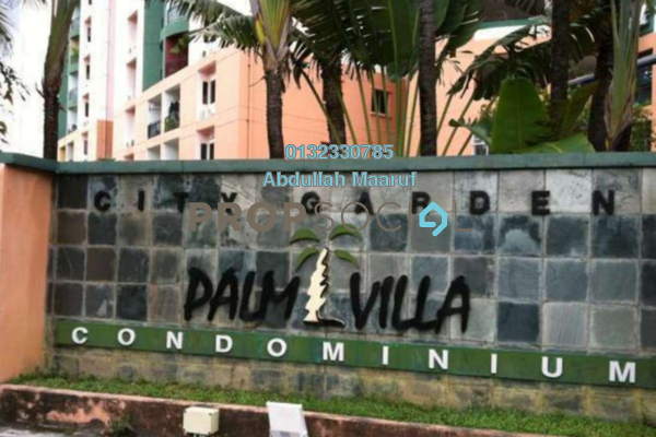For Rent Condominium at City Garden Palm Villa, Pandan Indah Freehold Semi Furnished 3R/2B 1.3k