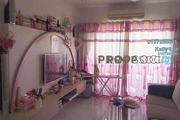 For Sale Condominium at Ixora Apartment, Kepong Freehold Fully Furnished 3R/2B 320k