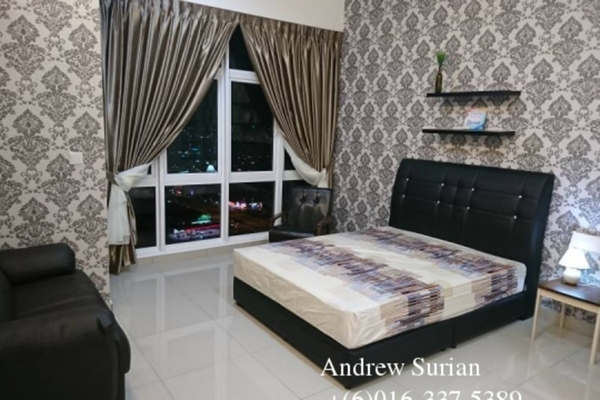 For Rent Serviced Residence at The Twin Residences, Johor Bahru Freehold Fully Furnished 1R/1B 1.6k