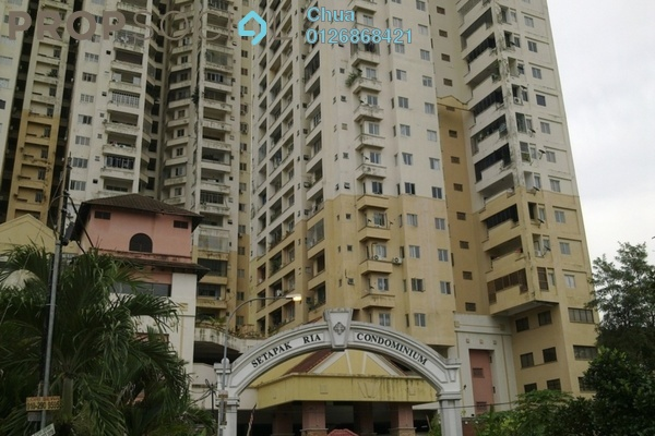 For Rent Condominium at Setapak Ria Condominium, Setapak Freehold Semi Furnished 3R/2B 1.3k