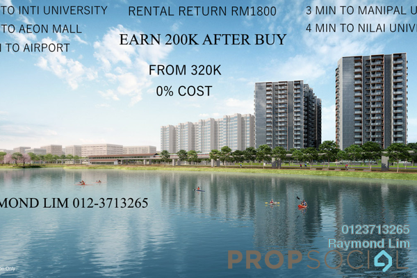 For Sale Condominium at Perdana College Heights, Nilai Freehold Semi Furnished 3R/2B 320k