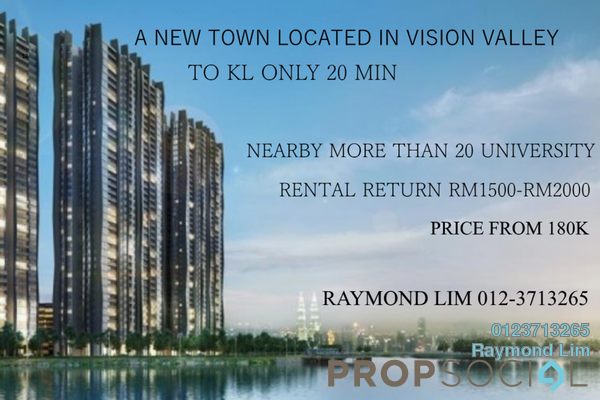 For Sale Condominium at Perdana Lakeview East, Cyberjaya Freehold Semi Furnished 3R/2B 190k