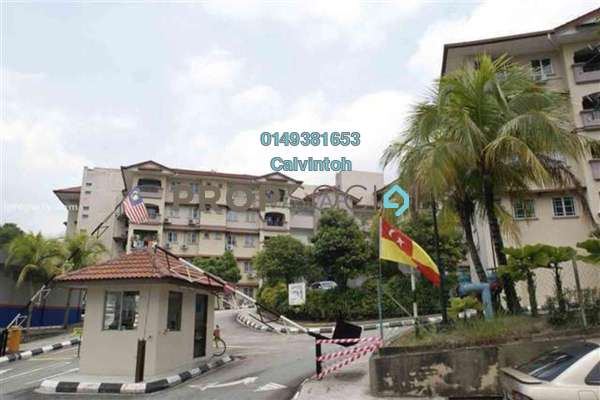 For Rent Apartment at Taman Segar, Cheras Freehold Fully Furnished 3R/2B 1.4k